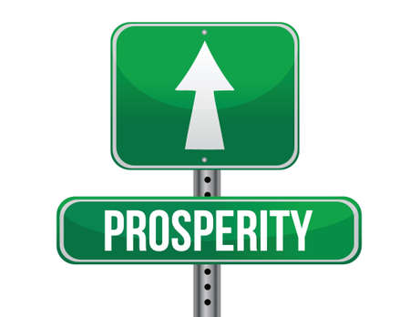 previews: prosperity road sign illustration design over a white background