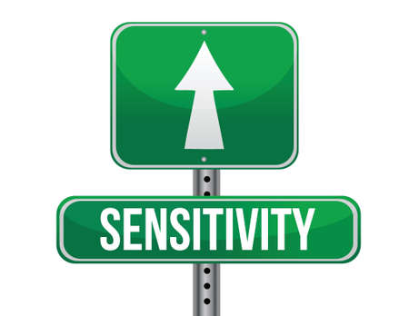 sensitivity: sensitivity road sign illustration design over a white background