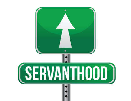 previews: servanthood road sign illustration design over a white background