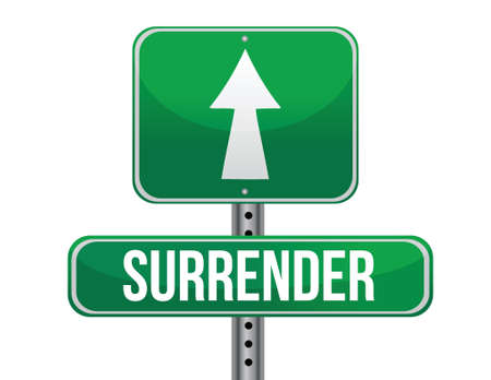 surrender: surrender road sign illustration design over a white background