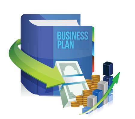 stack of cash: libro de plan de negocios, el dinero y el dise�o de la ilustraci�n gr�fica en blanco Vectores