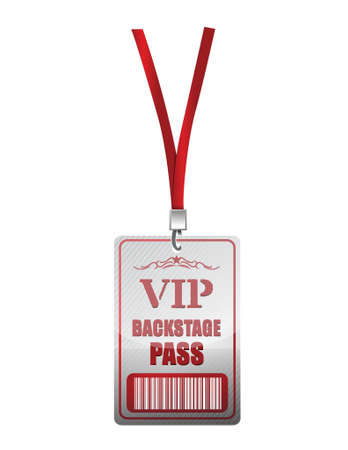 special events: Backstage pass vip illustration design over a white background