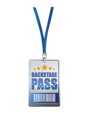 Backstage pass vip illustration design over a white background Vector