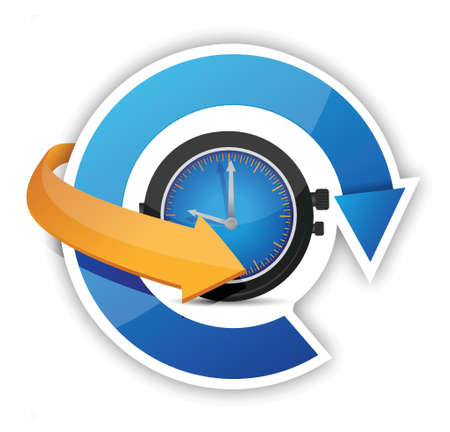 big timer: time constant movement concept illustration design over white Illustration