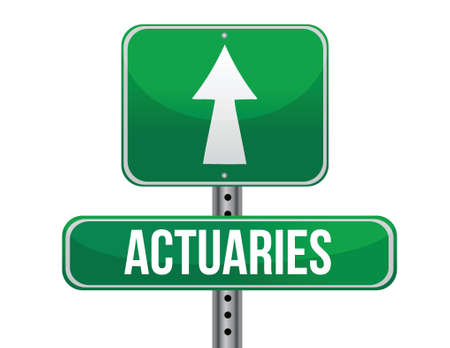 previews: actuaries road sign illustration design over a white background Illustration