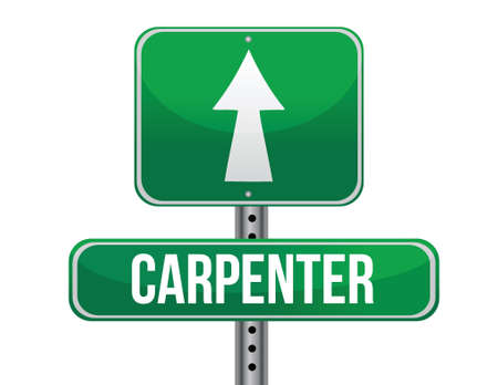 creator: carpenter road sign illustration design over a white background