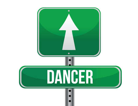 previews: dancer road sign illustration design over a white background