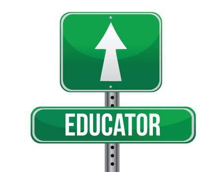 educators: signo educador vial diseño ilustración sobre un fondo blanco