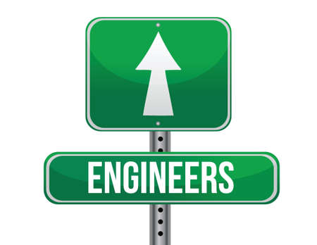 previews: engineers road sign illustration design over a white background Illustration