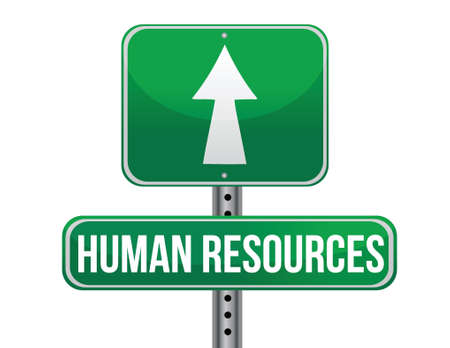 previews: human resources road sign illustration design over a white background