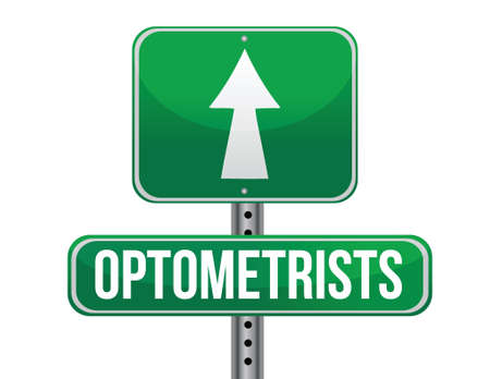 previews: optometrists road sign illustration design over a white background