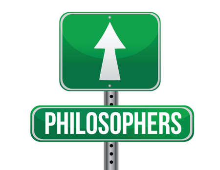 philosophers: philosophers road sign illustration design over a white background