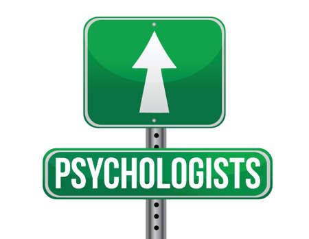 psychologists road sign illustration design over a white background Vektorové ilustrace