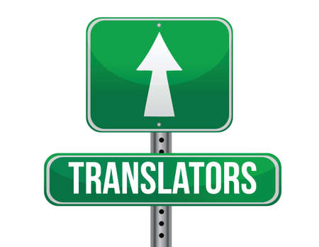 previews: translator road sign illustration design over a white background