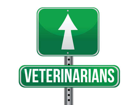 previews: veterinarians road sign illustration design over a white background Illustration