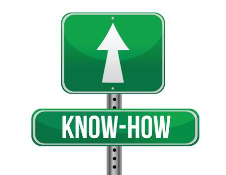 know how: know how road sign illustration design over a white background Illustration
