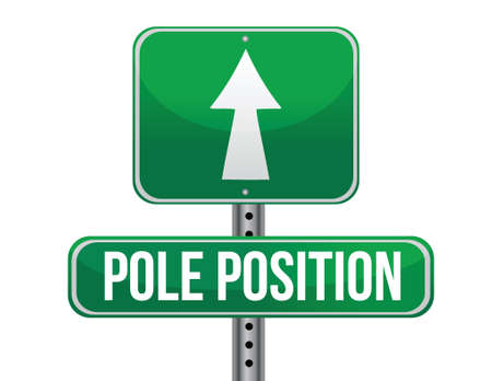 pole position road sign illustration design over a white background