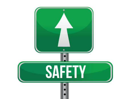 previews: safety road sign illustration design over a white background