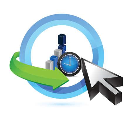 business time concept illustration design over white