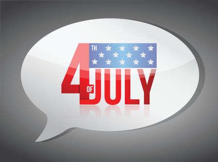 us coin: de julio el cuarto d�a mensajes dise�o ilustraci�n independencia en blanco