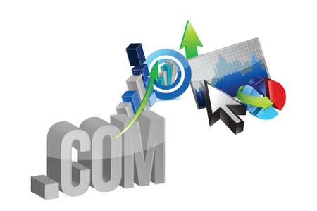 online business graphs illustration design over a white background Stock Vector - 19705716