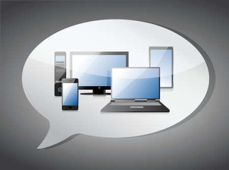cel: electronic message illustration design over a white background Illustration