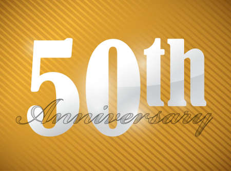 50th anniversary Silver Character Collection illustration design Stock Illustration - 19705822