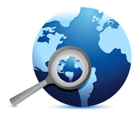Recherche concept design global d'illustration sur un fond blanc Banque d'images - 19705773