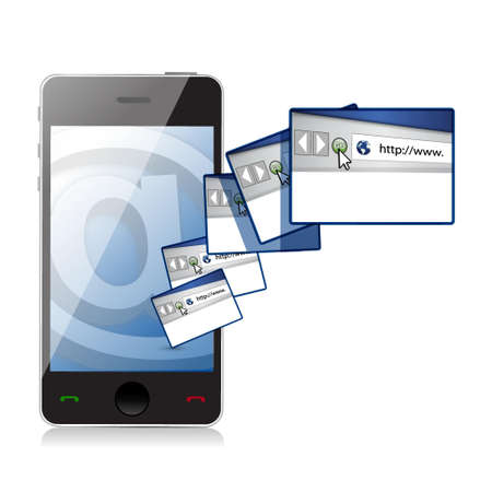 internet online concept illustration design over a white background Stock Illustration - 19705800