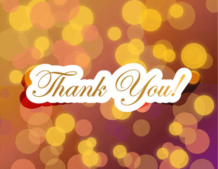 thank you lettering illustration design on a gold background illustration