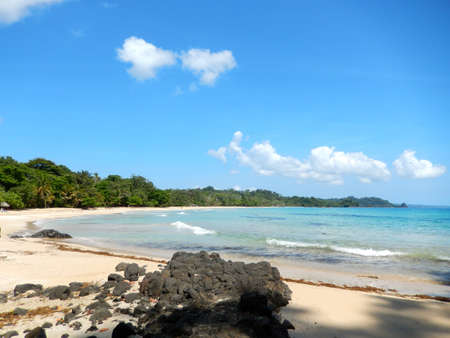 beach and tropical sea with clear water. travel to paradise photo