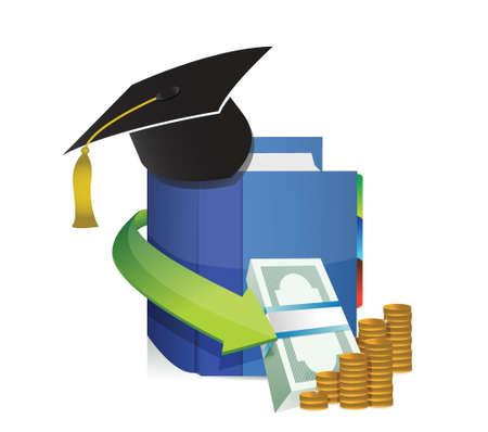 onderwijs: onderwijs kosten of winst illustratie ontwerp op wit