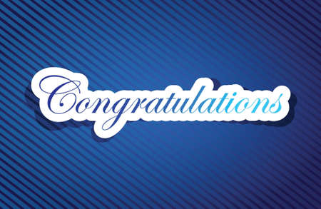congratulations word: congratulations sign background on a blue lines pattern
