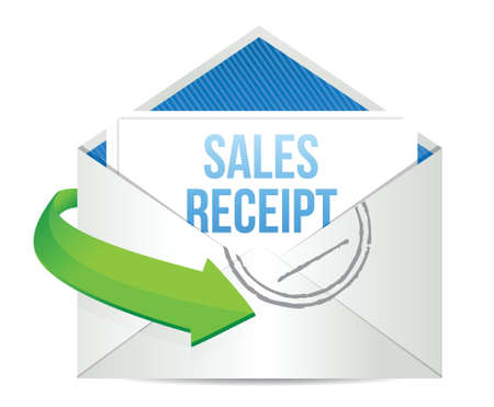 email sales report illustration design over a white background