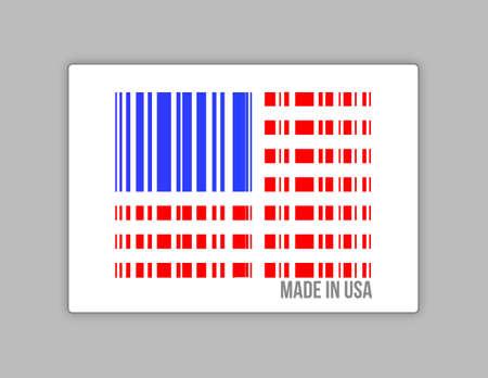 Barcode USA. Made in usa illustration design over white