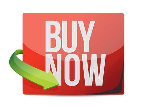 buy now sign. illustration design over white Illustration