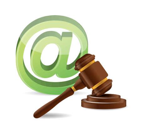 derecho penal: concepto de Derecho dise�o ilustraci�n internet sobre un fondo blanco