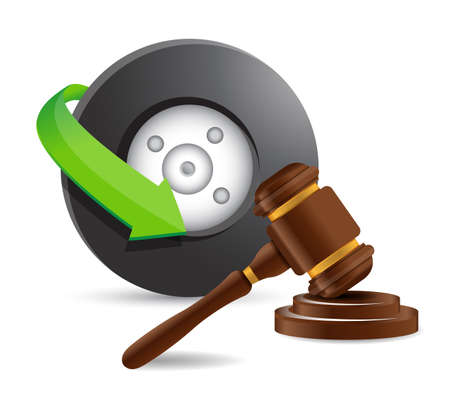 judicial system: abogado de accidentes de concepto de dise�o ilustraci�n en blanco Vectores