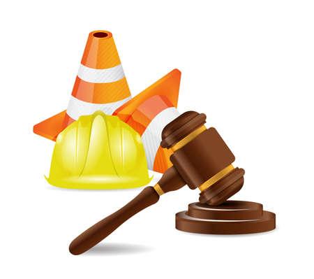 accident de travail: accident avocat concept design illustration de travail sur blanc