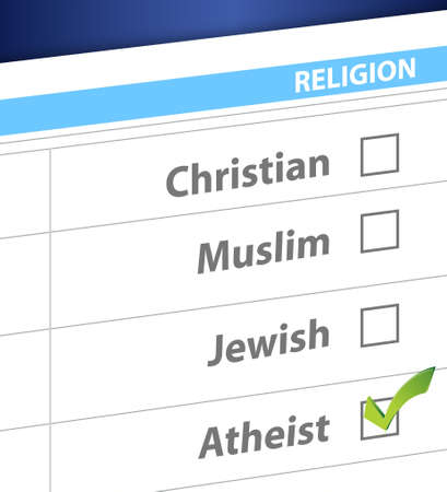 pick your religion blue survey illustration design Stock Vector - 19706228