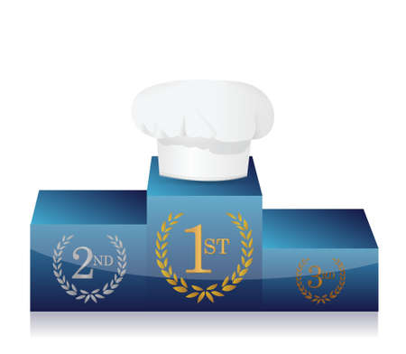 first place on cooking contest. illustration design Vector