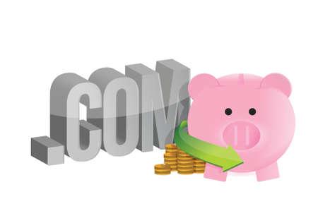 internet profits illustration design over a white background