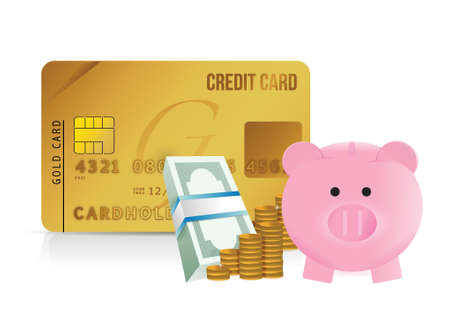mumps: credit card savings illustration design over a white background