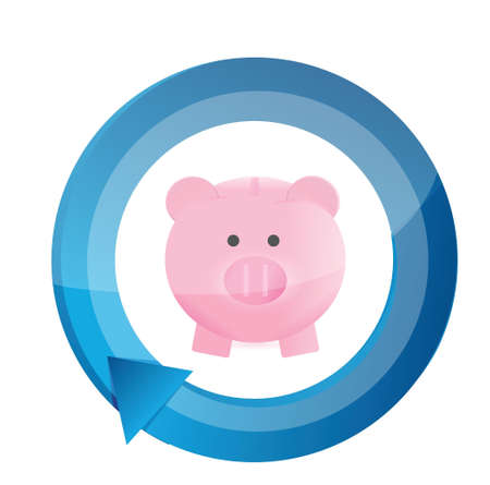 savings cycle concept illustration design over a white background