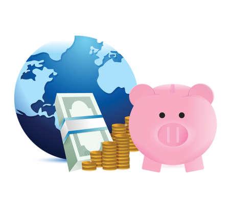 world savings illustration design over a white background