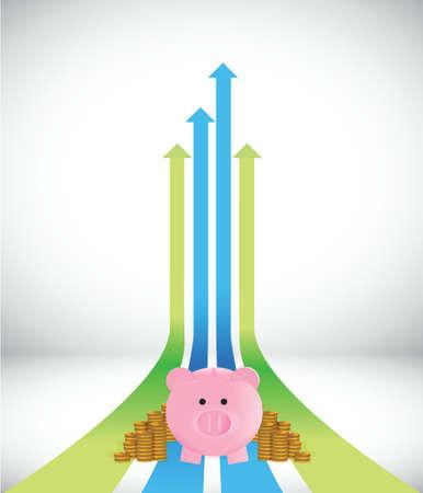 business improve illustration design over a white background Illustration