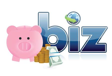 online business profits illustration design over a white background Vector