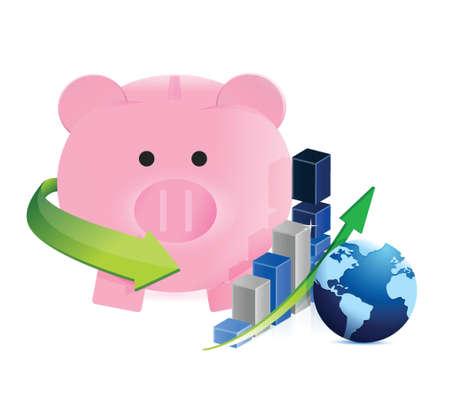 mumps: ahorro internacionales en el dise�o se mueven ilustraci�n sobre un fondo blanco Vectores