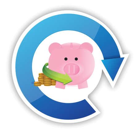 mumps: profit investment concept illustration design over a white background Illustration