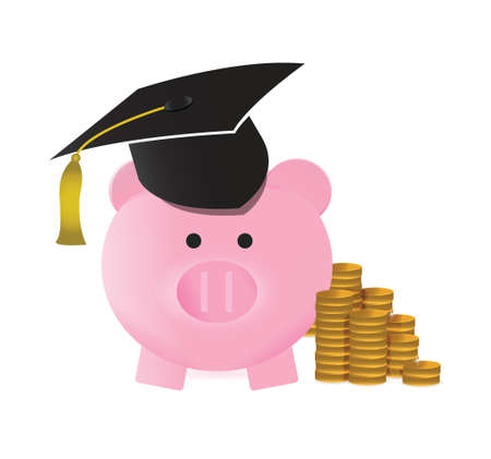 mumps: college savings concept illustration design over a white background Illustration
